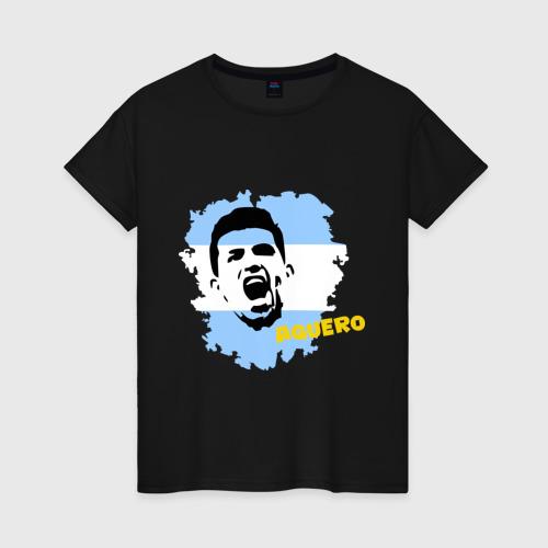Женская футболка хлопок Серхио Агуэро (Sergio Aguero)