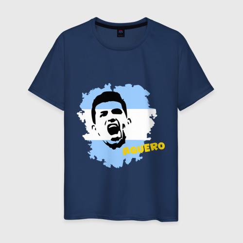 Мужская футболка хлопок Серхио Агуэро (Sergio Aguero)