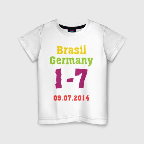 Детская футболка хлопок Бразилия - Германия