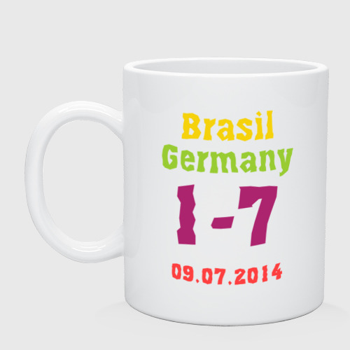 Кружка керамическая Бразилия - Германия