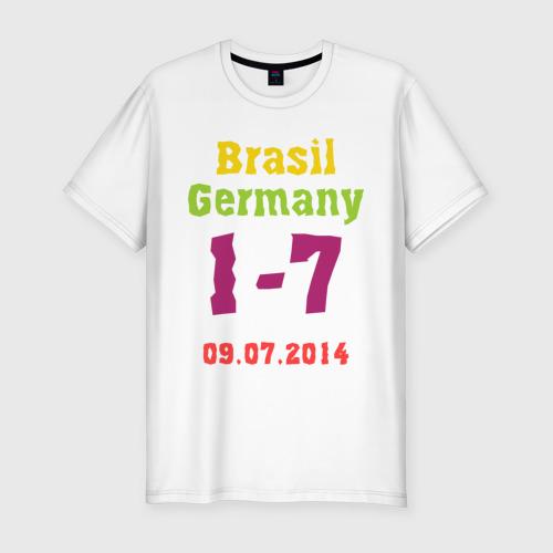Мужская футболка хлопок Slim Бразилия - Германия