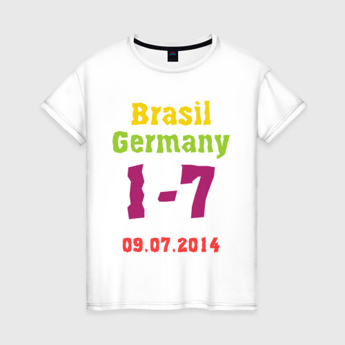 Женская футболка хлопок Бразилия - Германия