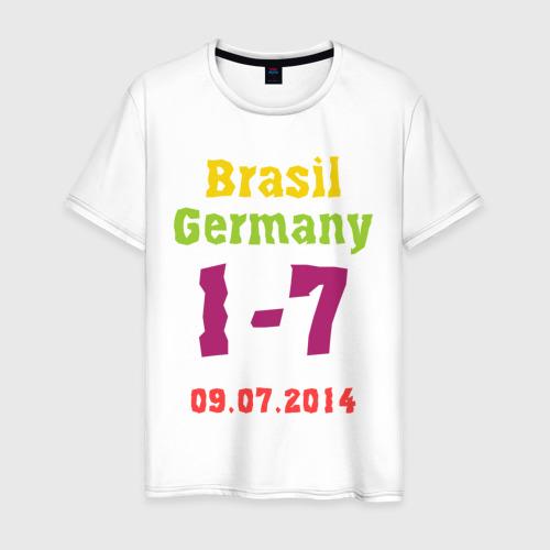 Мужская футболка хлопок Бразилия - Германия