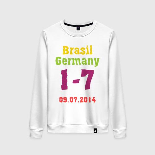 Женский свитшот хлопок Бразилия - Германия