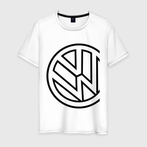 Мужская футболка хлопок Фольксваген значок