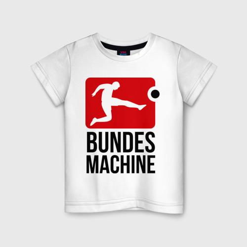 Детская футболка хлопок Bundes machine football