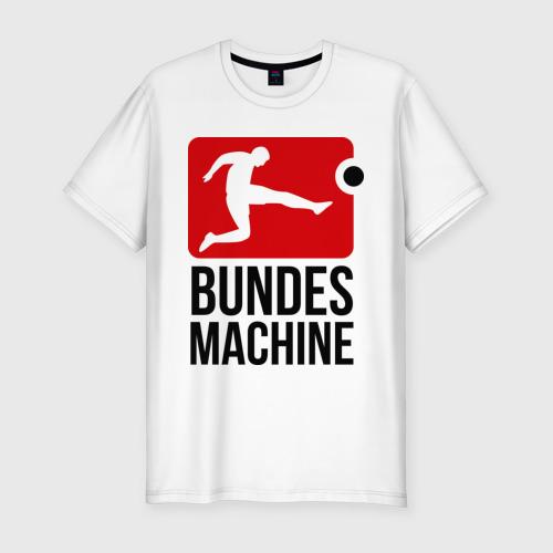 Мужская футболка хлопок Slim Bundes machine football