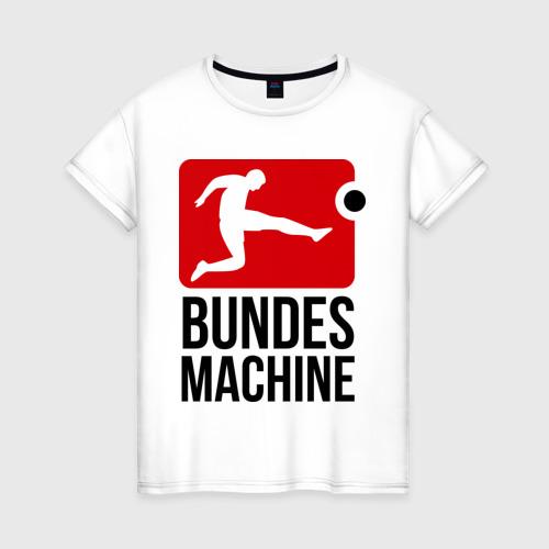 Женская футболка хлопок Bundes machine football
