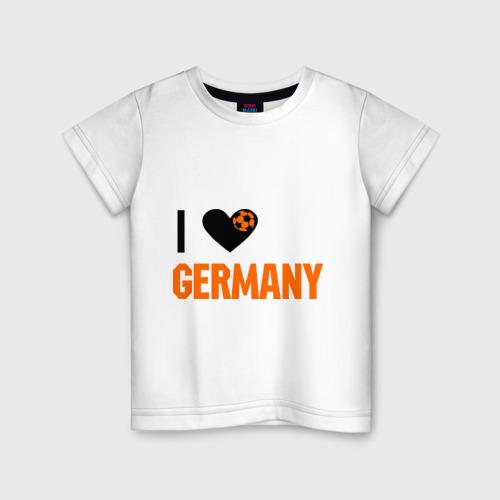Детская футболка хлопок I love Germany