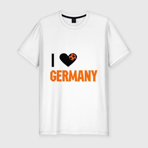 Мужская футболка хлопок Slim I love Germany