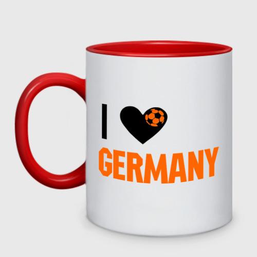 Кружка двухцветная I love Germany