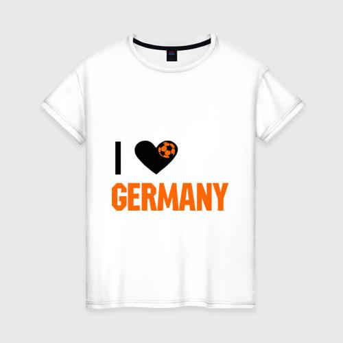 Женская футболка хлопок I love Germany
