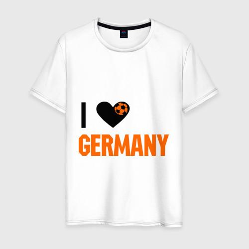 Мужская футболка хлопок I love Germany