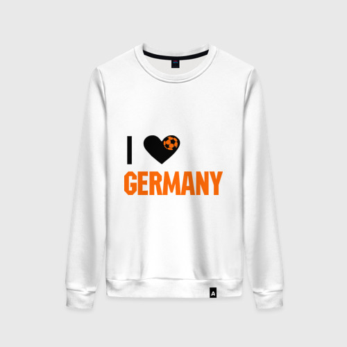 Женский свитшот хлопок I love Germany