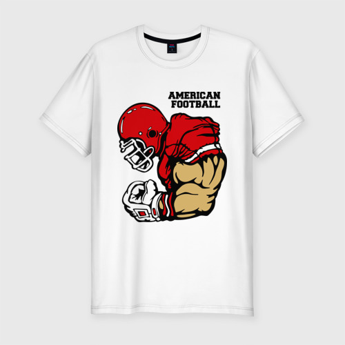 Мужская футболка хлопок Slim Американский футбол