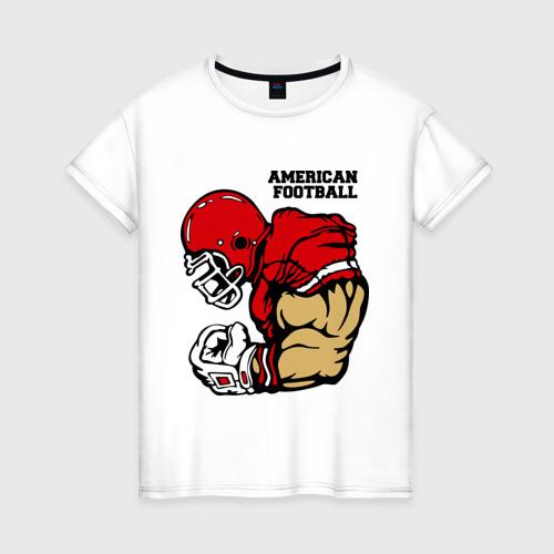 Женская футболка хлопок Американский футбол