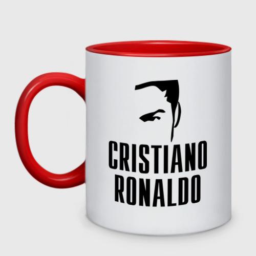 Кружка двухцветная Cristiano Ronaldo 7