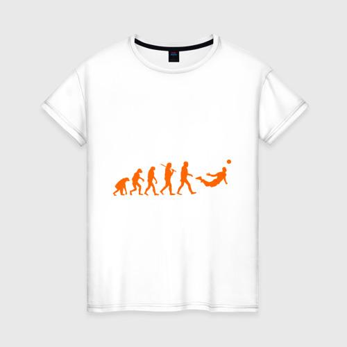 Женская футболка хлопок Van Persie evolution