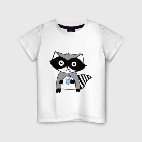 Детская футболка хлопок Енот мальчик (парная)