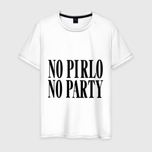 Мужская футболка хлопок No Pirlo,no party
