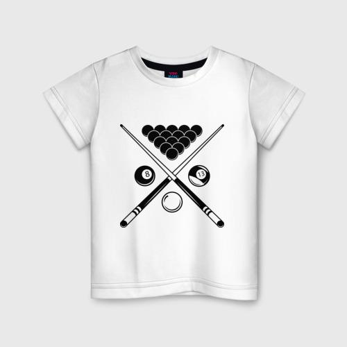 Детская футболка хлопок Бильярд (пул)