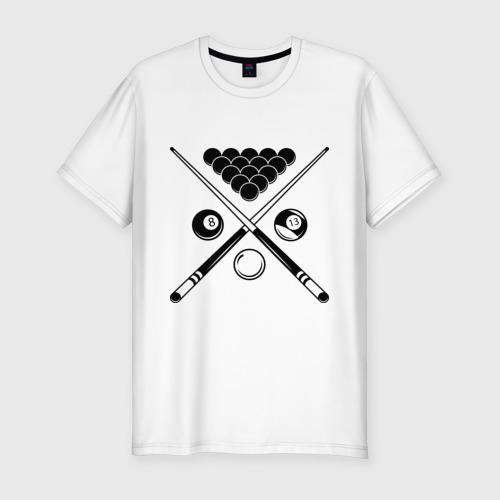 Мужская футболка хлопок Slim Бильярд (пул)