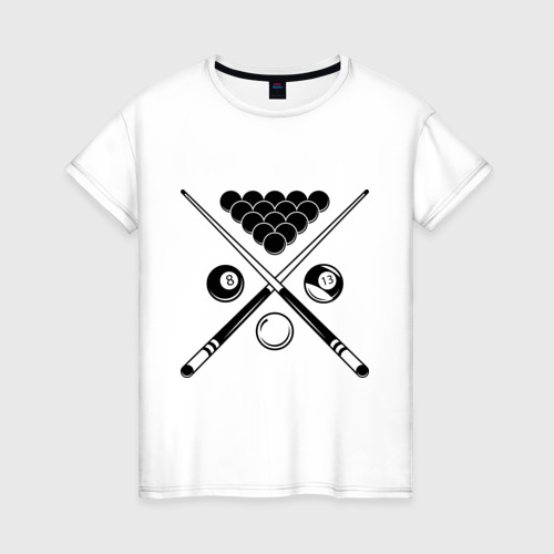 Женская футболка хлопок Бильярд (пул)