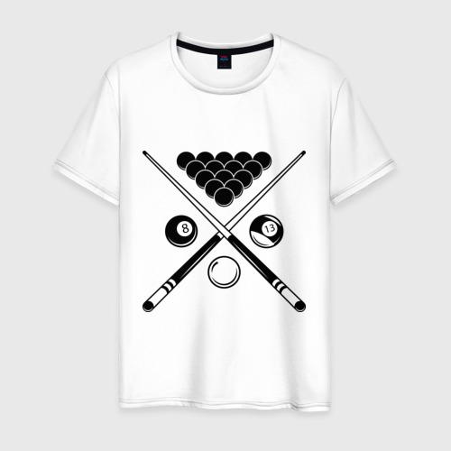 Мужская футболка хлопок Бильярд (пул)