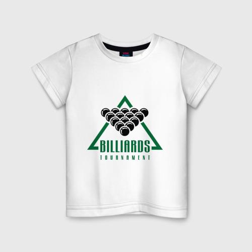 Детская футболка хлопок Billiards tournament