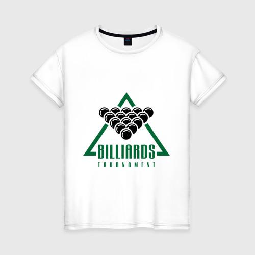 Женская футболка хлопок Billiards tournament