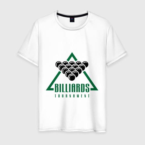 Мужская футболка хлопок Billiards tournament