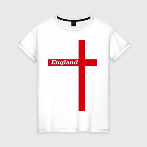 Женская футболка хлопок Сборная Англии