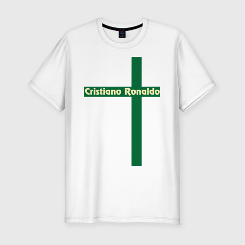 Мужская футболка хлопок Slim Cristiano Ronaldo