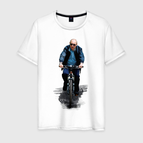 Мужская футболка хлопок Путин на велике