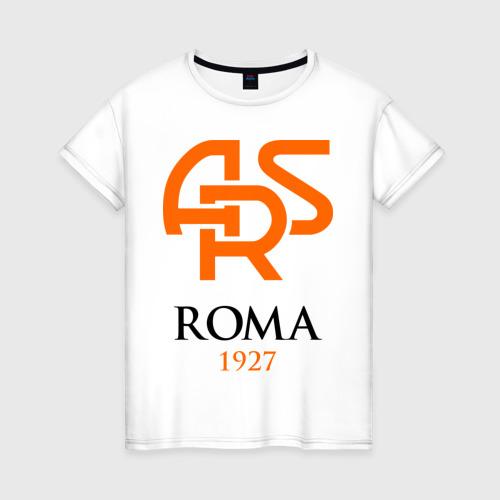 Женская футболка хлопок FC Roma Sign