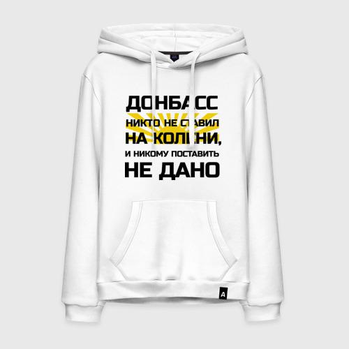Мужская толстовка хлопок Донбасс никто не ставил на колени
