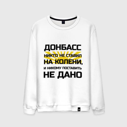 Мужской свитшот хлопок Донбасс никто не ставил на колени
