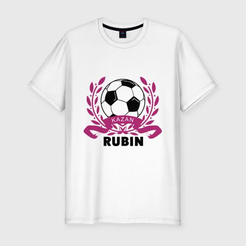 Мужская футболка хлопок Slim ФК Рубин