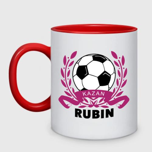Кружка двухцветная ФК Рубин