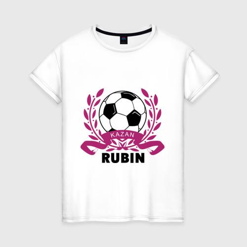 Женская футболка хлопок ФК Рубин