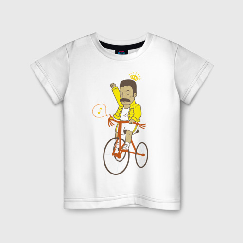 Детская футболка хлопок Фредди на велосипеде