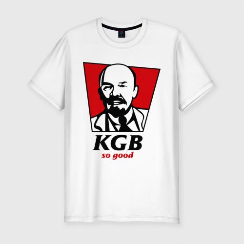 Мужская футболка хлопок Slim KGB - So Good