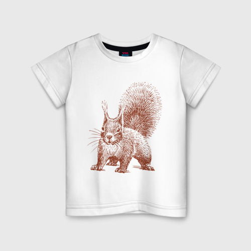 Детская футболка хлопок Самая милая белочка