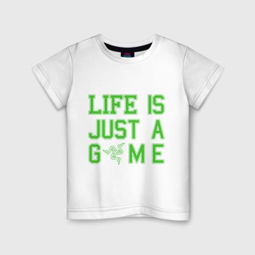 Детская футболка хлопок Life is just a game