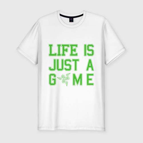 Мужская футболка хлопок Slim Life is just a game