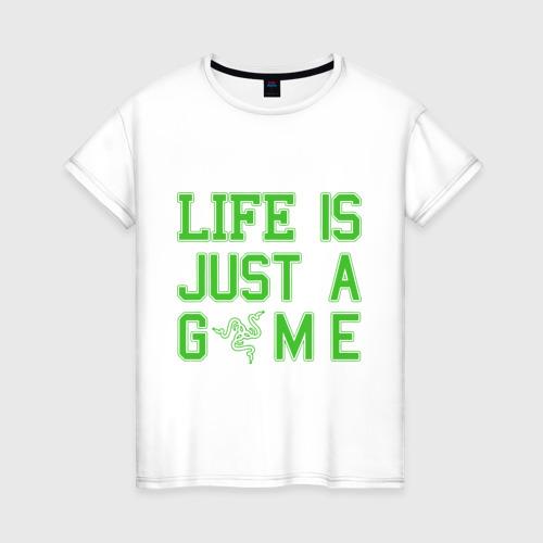 Женская футболка хлопок Life is just a game