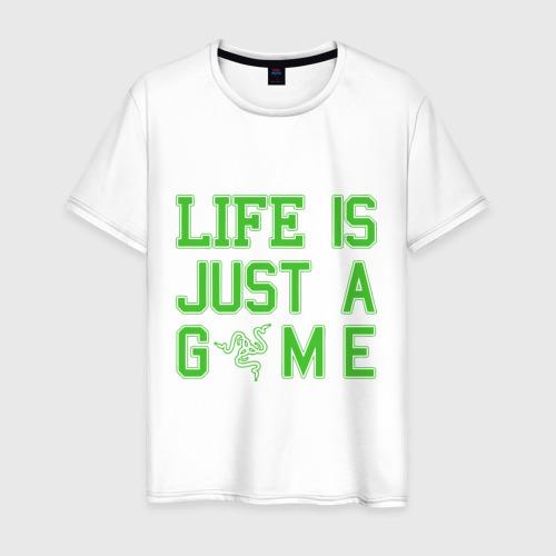 Мужская футболка хлопок Life is just a game