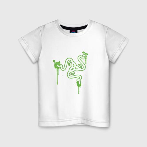 Детская футболка хлопок Razer logo