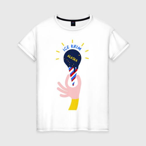 Женская футболка хлопок Ice Krim