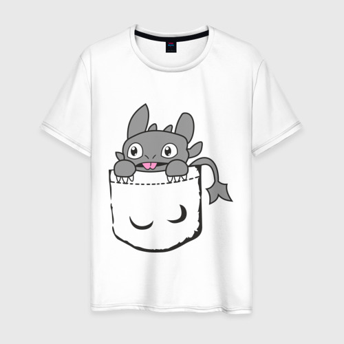 Мужская футболка хлопок Маленькая Фурия в кармашке